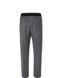 Pantalon de costume en laine gris foncé Helmut Lang