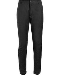 Pantalon de costume en laine gris foncé Lanvin