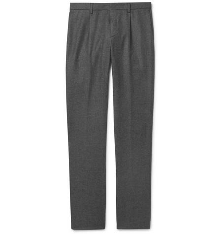 Pantalon de costume en laine gris foncé Loro Piana