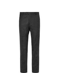 Pantalon de costume en laine gris foncé Mr P.