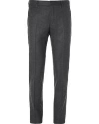Pantalon de costume en laine gris foncé Prada