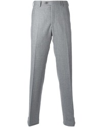 Pantalon de costume en laine gris Brioni