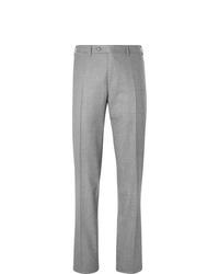 Pantalon de costume en laine gris Canali