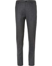 Pantalon de costume en laine gris Etro