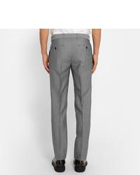 Pantalon de costume en laine gris Alexander McQueen