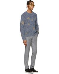 Pantalon de costume en laine gris Paul Smith