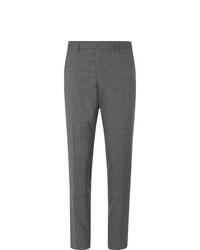 Pantalon de costume en laine gris Hugo Boss