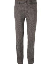 Pantalon de costume en laine gris Massimo Alba