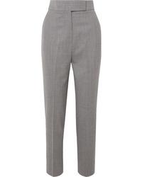 Pantalon de costume en laine gris Sara Battaglia