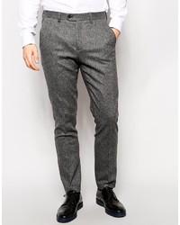 Pantalon de costume en laine gris Ted Baker