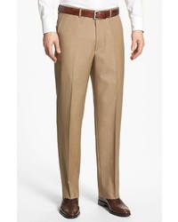 Pantalon de costume en laine marron clair