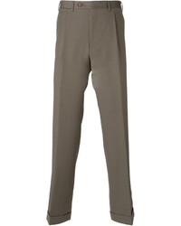 Pantalon de costume en laine marron clair Canali