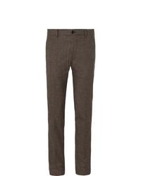 Pantalon de costume en laine marron foncé Bellerose