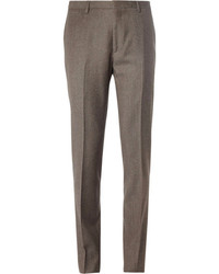 Pantalon de costume en laine marron