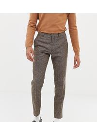 Pantalon de costume en laine marron Heart & Dagger