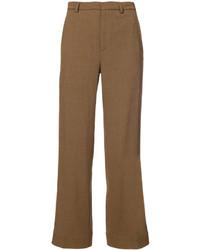 Pantalon de costume en laine marron Tome
