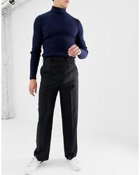 Pantalon de costume en laine noir ASOS DESIGN