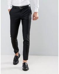 Pantalon de costume en laine noir Asos