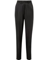 Pantalon de costume en laine noir Giuliva Heritage Collection