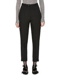 Pantalon de costume en laine noir Isabel Marant