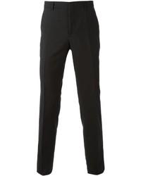 Pantalon de costume en laine noir Lanvin