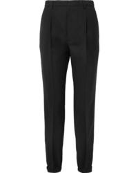 Pantalon de costume en laine noir Prada