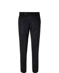 Pantalon de costume en laine noir Salle Privée