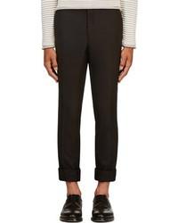 Pantalon de costume en laine noir Thom Browne