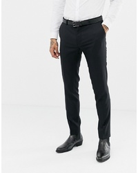 Pantalon de costume en laine noir Twisted Tailor
