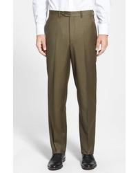 Pantalon de costume en laine olive