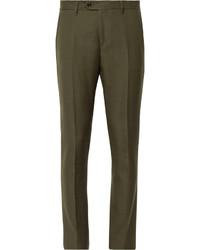 Pantalon de costume en laine olive Acne Studios