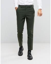 Pantalon de costume en laine olive Asos