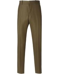 Pantalon de costume en laine olive Marni