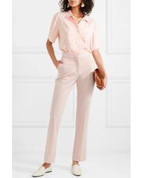 Pantalon de costume en laine rose Stella McCartney