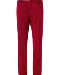 Pantalon de costume en laine rouge Jil Sander