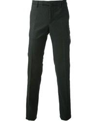 Pantalon de costume en laine vert foncé Incotex