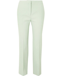Pantalon de costume en laine vert menthe Alexander McQueen