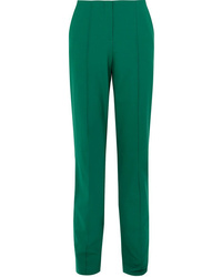 Pantalon de costume en laine vert Diane von Furstenberg