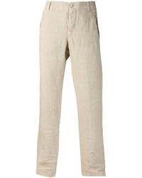 Pantalon de costume en lin beige