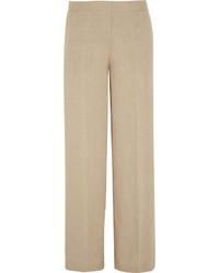 Pantalon de costume en lin beige Theory