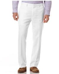 Pantalon de costume en lin blanc