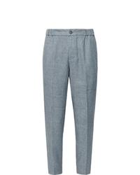 Pantalon de costume en lin bleu clair Club Monaco