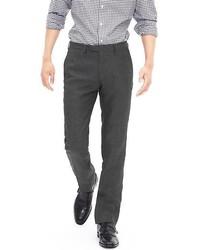 Pantalon de costume en lin gris foncé