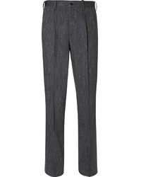 Pantalon de costume en lin gris foncé Issey Miyake