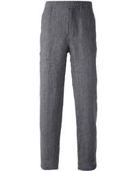 Pantalon de costume en lin gris foncé Our Legacy