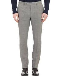 Pantalon de costume en lin gris