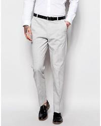 Pantalon de costume en lin gris Asos
