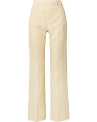 Pantalon de costume en lin jaune Acne Studios