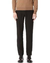 Pantalon de costume en lin noir