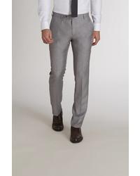 Pantalon de costume en pied-de-poule gris